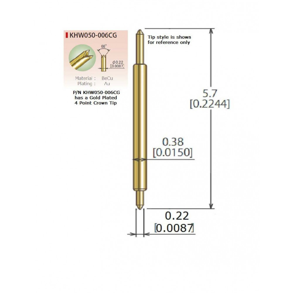 KHW050-006CG for .5mm Pitch (25pc Packet)