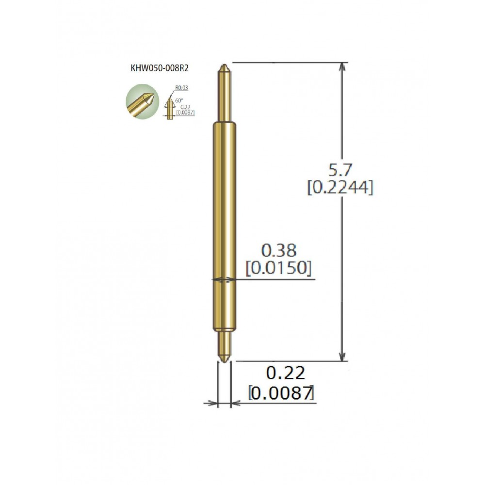 KHW050-008R2 for .5mm Pitch (25pc Packet)